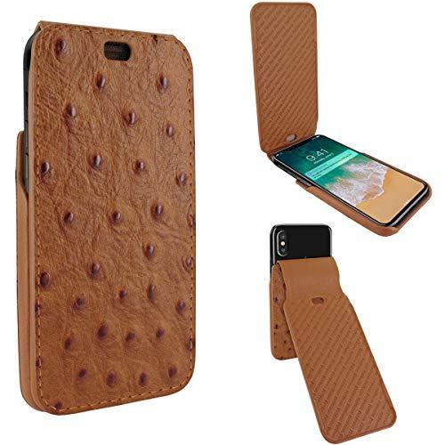 Piel Frama Magnet (Piel Frama iMagnum Schutzhülle für iPhone X Strauß braun)