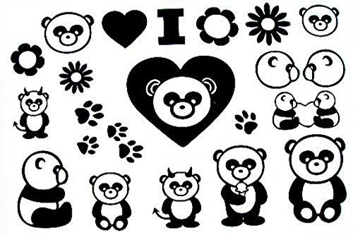GRASHINE Hohe Qualität und realistischen heißer Verkauf Männer und Frauen Tattoo-Aufkleber wasserdichte Panda gefälschte und realistische temporäre Tattoos (Temporäre Tattoos Für Männer Chinesische)