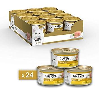 Gourmet Purina Gold Nourriture Humide pour Chat, Mousse au Poulet-24boîtes de 85g chacune