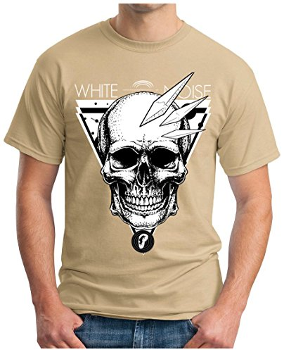 OM3 - WHITE-NOISE - T-Shirt DOPE CRYSTAL METH KOKAIN ALTERNATIVE PUNK EMO GEEK, S - 5XL Khaki