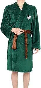 Color : SM Shcro Cosplay Cloak Attack on Titan Unisex Nightwear Sleepwear Bathrobe Costume Robe The Wings of Freedom Flannel Pajamas