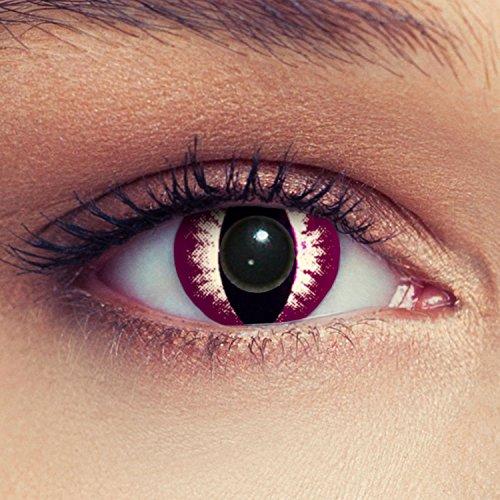 Violette Katzenaugen Kontaktlinsen Model: Darkpurple Cat eye + gratis Kontaktlinsen Behälter