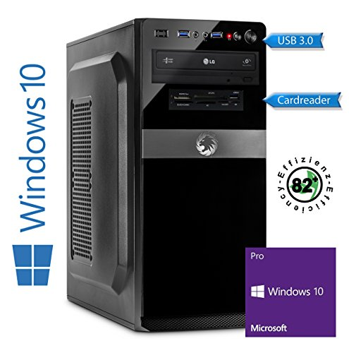Memory PC Intel PC Core i5-7500 7. Generation (Quadcore) Kaby Lake 4x 3.4 GHz, ASUS, 8 GB DDR4 2133Mhz, 250 GB SSD + 1000 GB Sata3/-600, Intel HD 630 Grafik 4K, USB 3.0, SATA3, HDMI, DVD-Brenner, Sound, GigabitLan, Windows 10 Pro 64bit, MultimediaPC, Cardreader, Kabylake