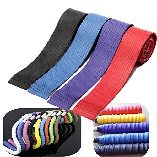 CAMTOA Anti Slip Racket Tape,Polyurethane Racquet Overgrip Roll Tape, Grip Tape for Tennis, Squash,Badminton, Racquet Sports Test