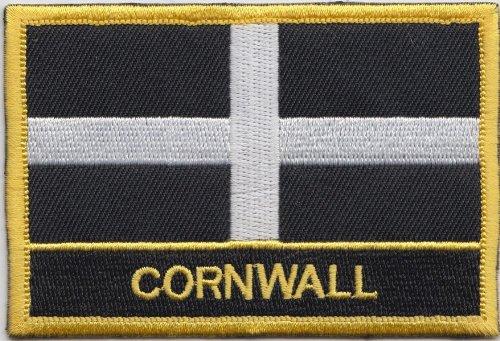 Gesticktes Motiv (Flagge, Motiv: Cornwall, gesticktes Blazer Aufnäher Patch ***WEST COUNTRY Verkäufer ***)