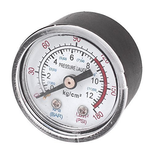 sourcingmap® 1/8″ NPT Luft Kompressor / Hydraulik Manometer 0-180 PSI 0-12BAR 1.5″ Gesicht de