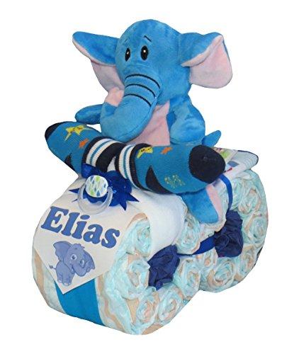 'pañales pañales para tartas-Moto 'Elefante Azul