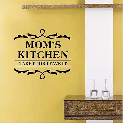 Qthxqa Mamas Küche Wandaufkleber Familie Dekoration Küche Design Vinyl Wandtattoo Nehmen Sie Oder Lassen Sie Es Zeichen Wandkunst Wandbild 57 * 50 Cm (Nehmen Halloween-zeichen Sie Eine)