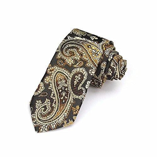 Gold Krawatten-tasche (XZLP99 Präsident Stempel Baumwolle Krawatten Tasche Schals Koreanische Version Von Die Schmale Version Trend Krawatte, Gold)