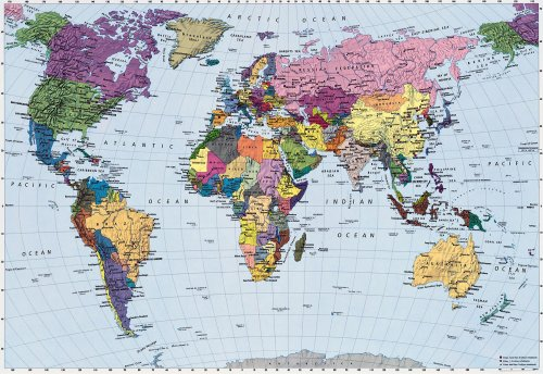 World map wallpaper mural buy online in uae diy amp tools world map wallpaper mural buy online in uae diy amp tools products in the uae see prices reviews and free delivery in dubai abu dhabi gumiabroncs Gallery