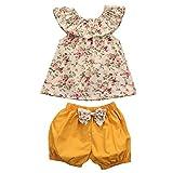 SMARTLADY Verano Bebé Niñas Camisetas sin mangas y Pantalones cortos (12 meses)