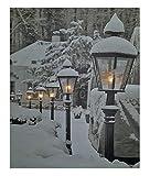 LED Wandbild 50x40 cm - Schneelandschaft mit 5 LED´s - Leinwand beleuchtet Leucht Bild