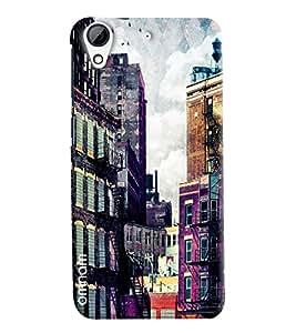 Omnam Engilsh House In Pink Printed Designer Back Cover Case For HTC Desire 728