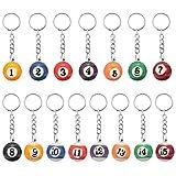 16EDC Billard Gadget Snooker Tisch Ball Anhänger Schlüsselanhänger Schlüsselanhänger