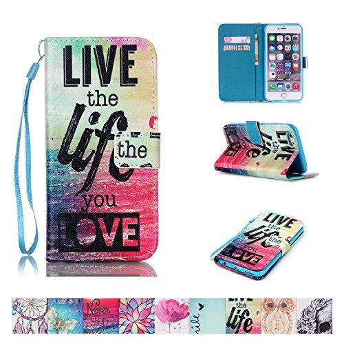 iPhone 6/6S Fall, firefish [Ständer] [stoßfest] doppelt Schutzhülle Flip Folio Slim Magnetisches Cover mit Handschlaufe für Apple iPhone 6/6S 11,9cm Apple iPhone 6/6S Life (Tv-ständer-combo)