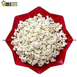 Pinkdose Green: Microwaveable Popcorn Maker Foldable Pop Corn Bowl Microwave Popcorn Bucket Kitchen Bakeware Family Party Diy Popcorn Maker