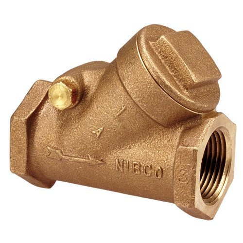 NIBCO T-413-Y Cast Bronze Check Valve, Silent Check, Class 125, PTFE Seat, 1/2 Female NPT Thread (FIPT) by Nibco -