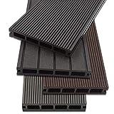 Home Deluxe WPC Terrassendiele | 4 verschiedene Farben | verschiedene Flächen | (16 m², Anthrazit)