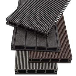 Home Deluxe - WPC Terrassendiele Anthrazit - Menge: 12 m² - Drei verschiedene Farben - Inkl. Unterkonstruktion und komplettem Zubehör