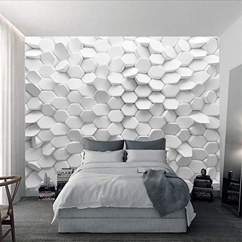 Yologg Vision Unregelmäßiges Pentagon Bestellung Benutzerdefinierte Moderne Tapete Die Neue Abstrakte Geometrische Figur Wandbild Tapete Zum Leben-400X280Cm