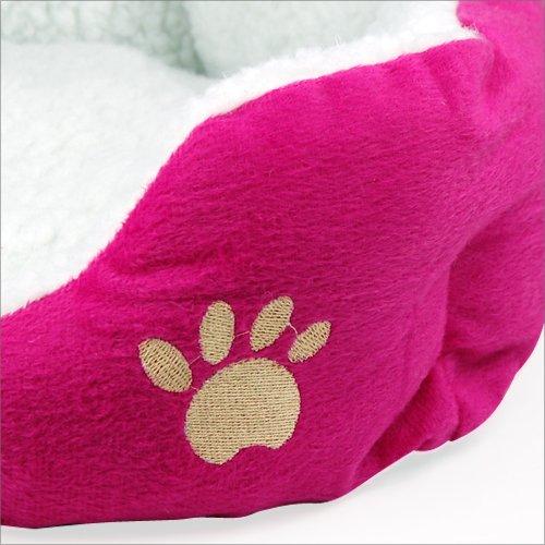 Yahee365 Hundebett Hundekissen Hundesofa Katzenbett Tierbett in 3 Farben (Rose) - 4