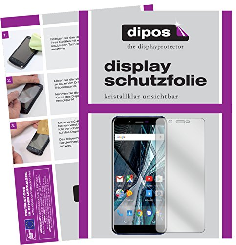 dipos I 2X Schutzfolie klar passend für Archos Core 57S Folie Bildschirmschutzfolie