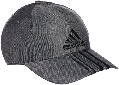 adidas Herren Performance 3-Stripes Kappe, Dark Grey Heather/Black, OSFM