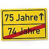 DankeDir! 75 Jahre (74 Jahre Vorbei) - Kunststoff Schild, Geschenk 75. Geburtstag, Geschenkidee Geburtstagsgeschenk Fünfundsiebzigsten, Geburtstagsdeko/Partydeko / Party Zubehör/Geburtstagskarte