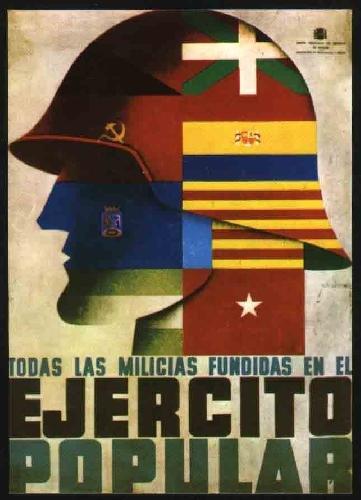 Antigua Postal - Old Postcard : CARTEL DEL EJERCITO POPULAR. AUTOR MELENDRERAS 1937. ROURE VALENCIA