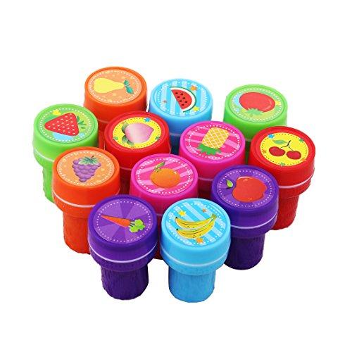 ZENUTA Neue 12 STÜCKE Self-tinte Briefmarken Kinder Party Favors Event Supplies für Geburtstagsfeier Spielzeug Junge Mädchen Goody Bag Pinata Füllstoffe