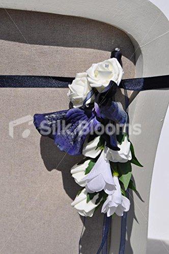 Vanda orchidea, colore: blu, Rosa e matrimoni, colore: bianco Iris Pew fine