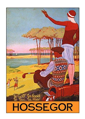 affiche poster hossegor golf reproduction affiche poster-format size 50X70 cm-papier luxe 300 g-tous formats possibles nous consulter-vente du fichier numérique possible nous consulter par www.affichevintage.fr