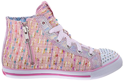 Skechers Chit Chatsweet Seekers, Baskets Basses fille Rose - Pink (Pnk)