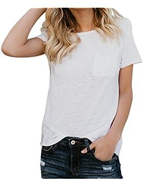 FAMILIZO Camisetas Blancas Mujer, Camisetas Mujer Manga Corta Blouse For Women Camisetas Mujer Verano Blusa Mujer...