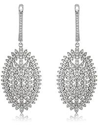 Shaze Starry Oval Party Silver Earrings For Women | Earrings For Girls | Earrings For Women Traditional | Earrings...