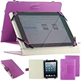 """Housse universel support etui couleur violet simi cuir pour tablette PC 10"""" 10.1"""" 10.2"""" style traditionnel modele ex. Android Tablet PC Tab Epad Apad, MID pad, SuperPad, Samsung Galaxy Tab 10.1 P7500 P7510, Tab 2 10.1"""" P5100 P5110, Galaxy Note 10.1 N8000, 10"""" Blackberry player book, 10"""" E reader book, Acer ICONIA A500 A501, Motorola XOOM MZ601 10"""" Advent Vega, etc"""