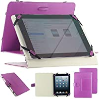 "Housse universel support etui couleur violet simi cuir pour tablette PC 10"" 10.1"" 10.2"" style traditionnel modele ex. Android Tablet PC Tab Epad Apad, MID pad, SuperPad, Samsung Galaxy Tab 10.1 P7500 P7510, Tab 2 10.1"" P5100 P5110, Galaxy Note 10.1 N8000,"