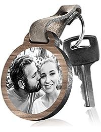 """schenkYOU Schlüsselanhänger aus Holz """"Ich muss dir was sagen, es hat mit Liebe zu tun …"""" mit rückseitiger Fotogravur"""