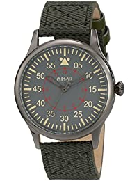 August Steiner Reloj de cuarzo suizo de la pantalla analógica y verde hombre