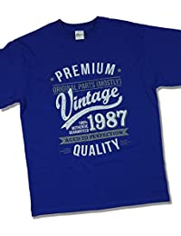 1987 Vintage Year - Aged To Perfection - 30 Ans Anniversaire T-Shirt pour Homme