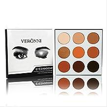 Cosmetics Burgundy Bronze 9 Colors Shimmer Matte Eyeshadow Eye Shadow Palette (Bronze)