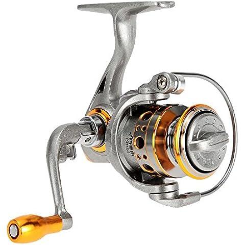 Lixada Bobina di pesca / mulinello da pesca/ Spinning Reel - con Borsa di stoccaggio, Destra Sinistra mano intercambiabile, 12+1 BB, 5.2:1 rapporto