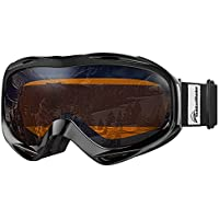 OutdoorMaster Premium Skibrille, Snowboardbrille Schneebrille 100% OTG UV-Schutz mit Rahmen Anti-Nebel, Helmkompatible Ski Goggles für Damen und Herren/Jungen und Mädchen