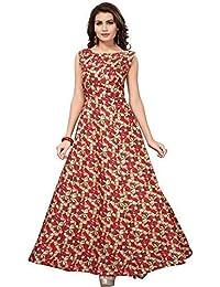 059ecfbf58 Arvi Women's semi stitched Benglori Satin Printed Semi-Stitched Gown
