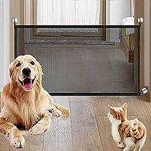Barrera de Seguridad Extensible Valla Seguridad Infantil de Madera Natural Plegable Rejilla de Separación para Mascotas