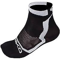 Briko Real Mesh Extreme - Calcetines de Ciclismo Unisex, Color Negro/Blanco, Talla S