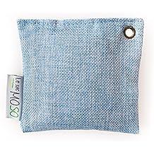 La Versión Moso Bag Mini 75gr–Purificador de aire, ambientador, natural, inodoro–Contiene 100% bambú carbón–moldea para frigorífico y espacios reducidos...