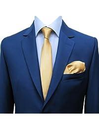 Schmale Krawatten Slim ca. 6 cm mit Einstecktuch