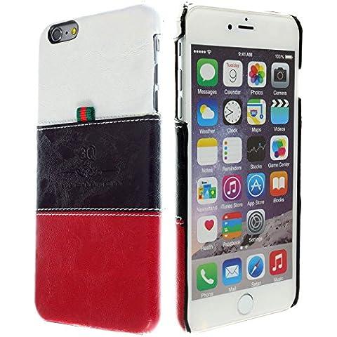 3Q Lujosa Funda para Apple iPhone 6 Plus Funda para iPhone 6S Plus Carcasa Cover Novedad Mayo 2016 Funda Top Diseño lujoso exclusivo Suizo Blanco Negro