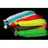 11Packungen 11Farben verquetschen Nylon Kunstfaser Kinky Curly Hair Fibre Magnetverschluss Minnow Streamer Fliegen Angeln Binden Materialien